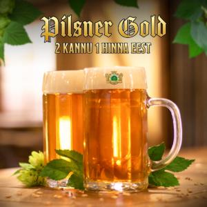 2 kannu 1 hinna eest: Pilsner Gold