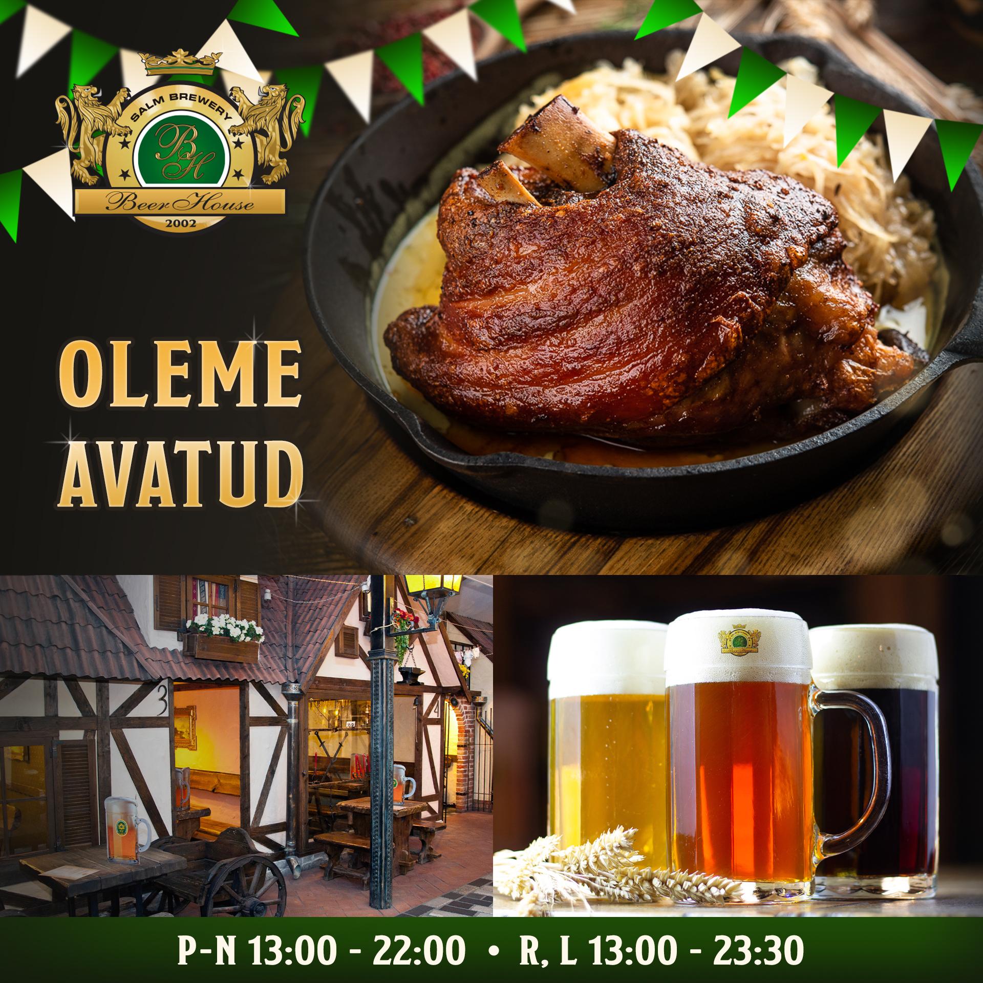 Beer House on avatud!